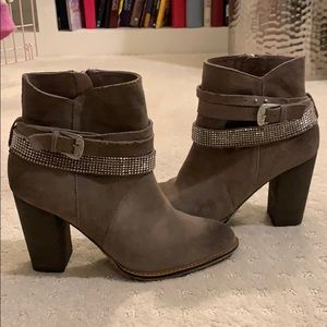Thick Heel Suede Ankle Boots